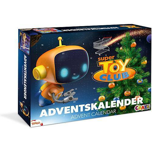 CRAZE Adventskalender Super Toy Club 41 x 32,5 x 6,2cm blau