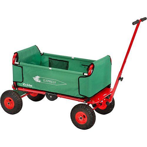 ECKLA-EXPRESS-Bollerwagen mit Luftbereifung grün/rot