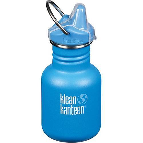 klean kanteen Edelstahl-Trinkflasche Klean Kanteen KID CLASSIC Pool Party, 355 ml, Sippy Cap blau
