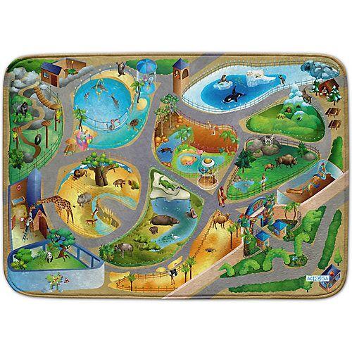 ACHOKA® Ultrasoft Spielteppich, Zoo, 100 x 150 cm mehrfarbig