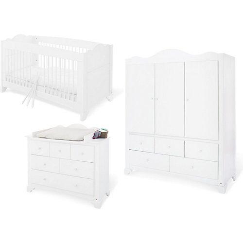 Pinolino Kinderzimmer Pino, großer Schrank, 3-tlg. weiß