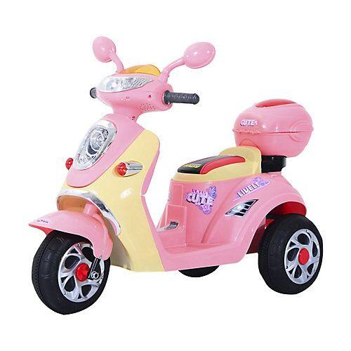 HOMCOM Kinderelektroroller rosa
