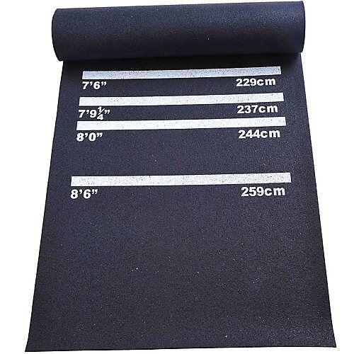 HOMCOM Dartmatte Steel- und Softdart schwarz  Erwachsene