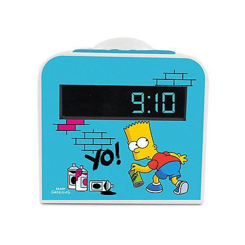 METRONIC Radiowecker Bart Simpson mit Nachtlicht blau