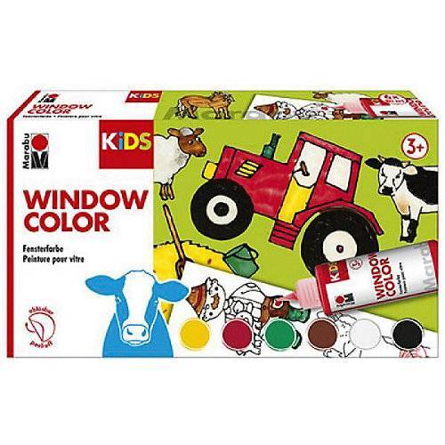 Marabu Kids Window Color Farmer Sortierung 6X80 ml
