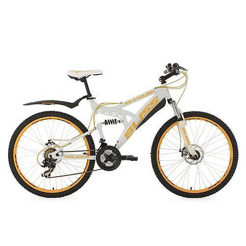 KS Cycling Fully Mountainbike Bliss 26 Zoll Mountainbikes weiß