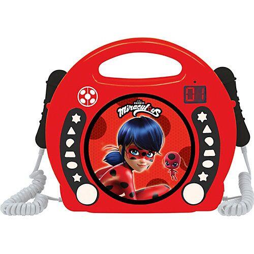 LEXIBOOK Miraculous CD Player mit 2 Microfonen bunt