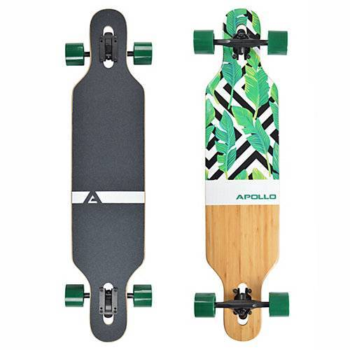APOLLO Twin Tip DT Longboard Flores - Bamboo weiß Modell 1