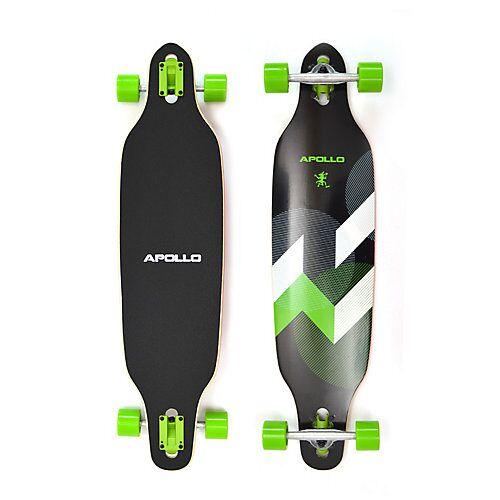 APOLLO Twin Tip DT Longboard Suva schwarz/grün