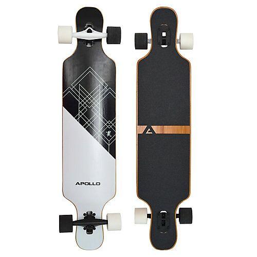 APOLLO Twin Tip DT Fiberglas Longboard Samoa schwarz/weiß