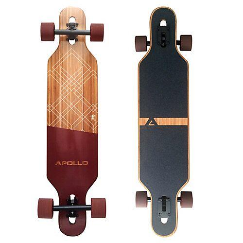 APOLLO Twin Tip DT Fiberglas Longboard Bali Slide rot/braun