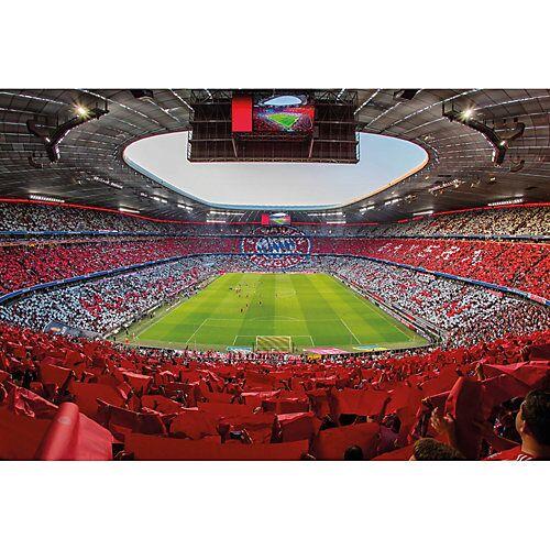 Fototapete FCB Stadion Rot Weiß mehrfarbig