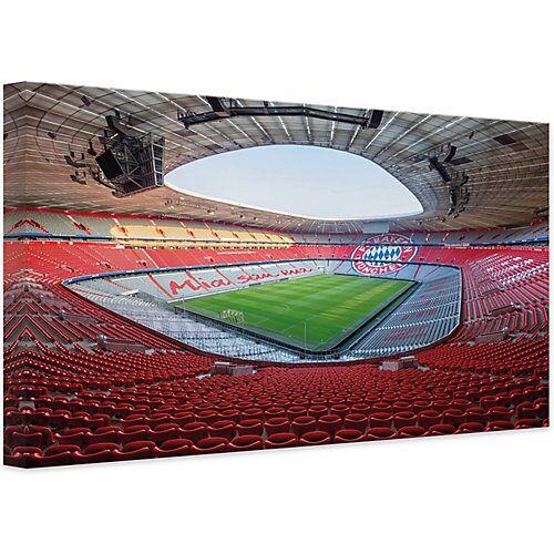 Leinwandbild FCB Stadion Mia san mia, 45 x 30 cm mehrfarbig