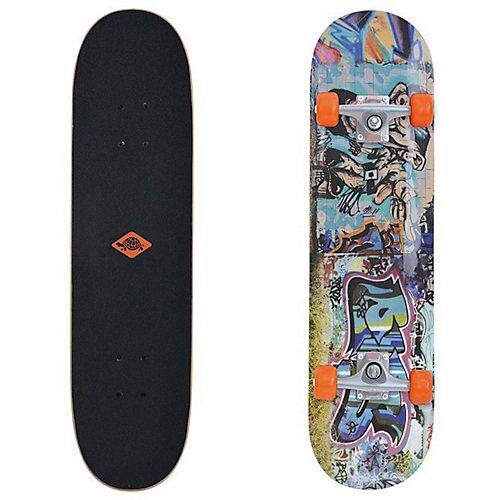 "Schildkröt ""Skateboard Kicker 31"""" Streetart bunt"""