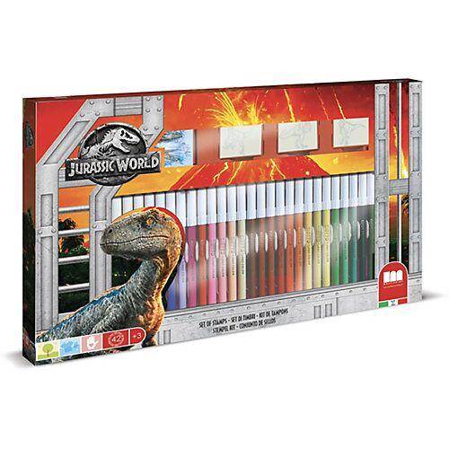 Jurassic World Malset XL Jurassic World, 41-tlg., inkl. Malbuch & Stempel