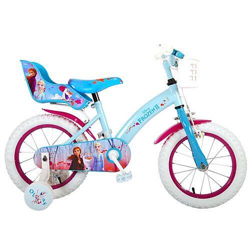 Volare Kinderfahrrad - Mädchen - 14 Zoll - Blau / Lila blau