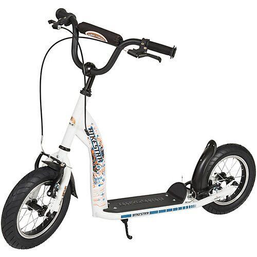bikestar Kinderroller mit Luftreifen weiß