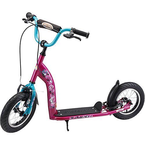 bikestar Kinderroller mit Luftreifen bordeaux/blau
