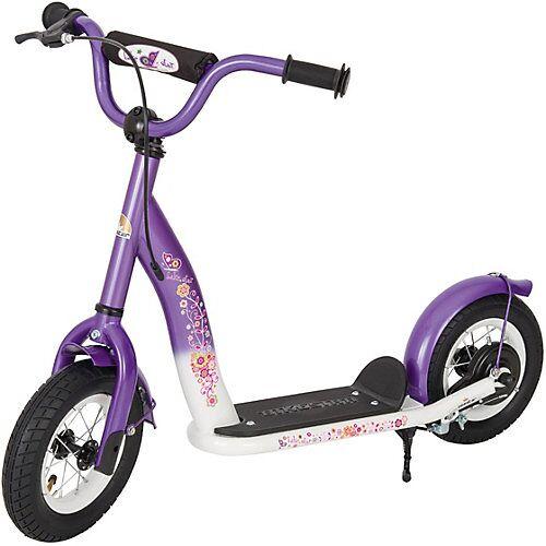 bikestar Kinderroller mit Luftreifen lila/weiß