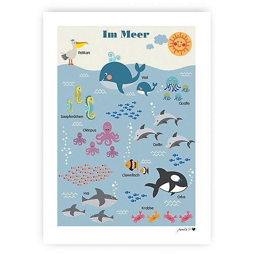 byGraziela Poster, Im Meer, 50 x 70 cm blau