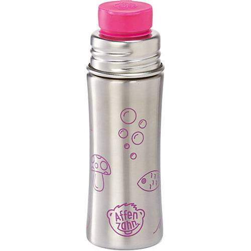 Affenzahn Edelstahl Trinkflasche Pink, 330 ml pink