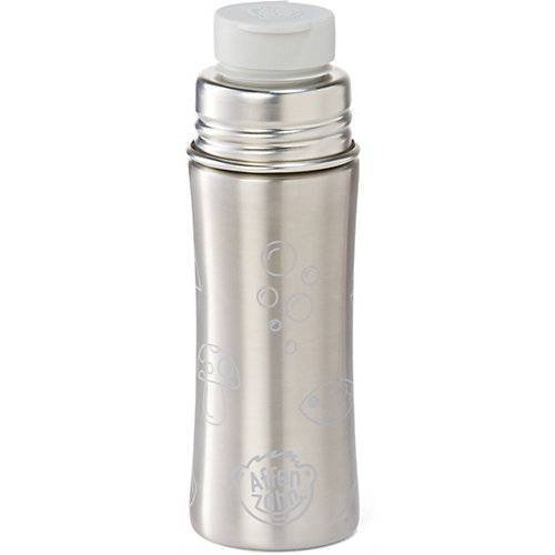 Affenzahn Edelstahl Trinkflasche Grau, 330 ml grau