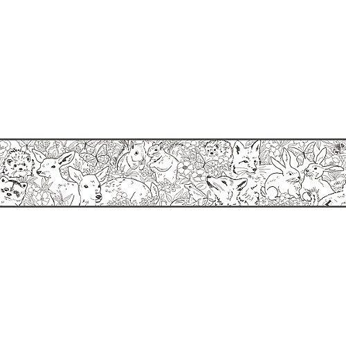 RoomMates Bordüre, Woodland Sketch