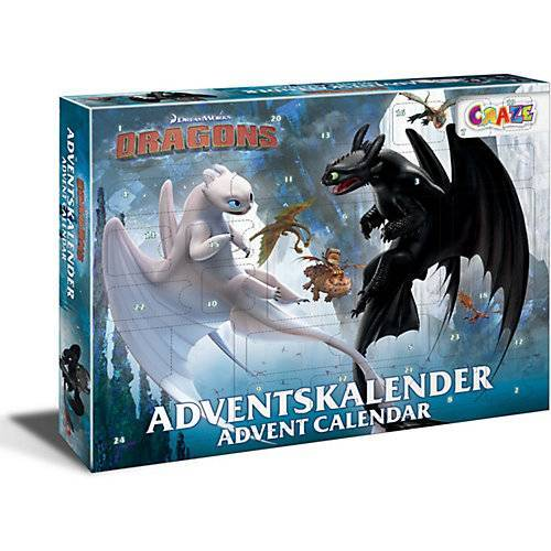 CRAZE Adventskalender Dragons 41 x 32,5 x 6,2cm