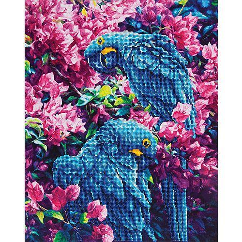 Papagei 42 x 52 cm bunt