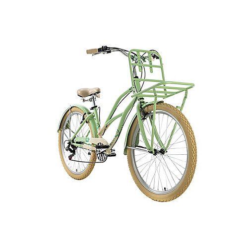 KS Cycling Cargo-Beachcruiser 6 Gänge Kahuna 26 Zoll Beachcruiser grün