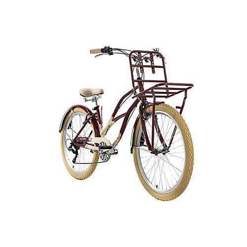 KS Cycling Cargo-Beachcruiser 6 Gänge Kahuna 26 Zoll Beachcruiser rot