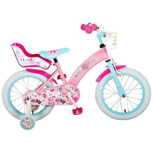 Volare 16 Zoll Mädchenfahrrad pink/blau