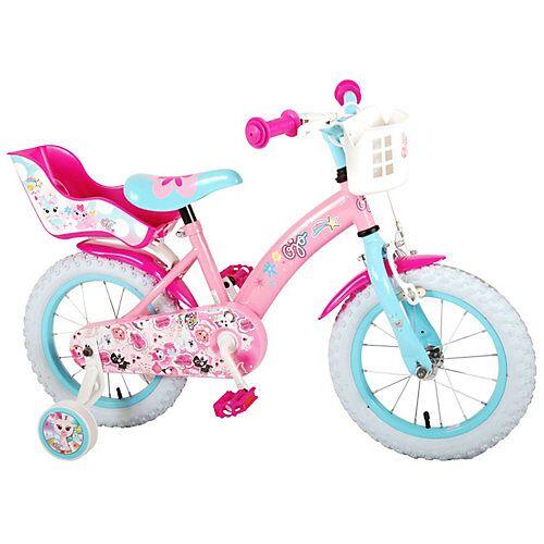 Volare Kinderfahrrad - Mädchen - 14 Zoll - Pink pink/blau