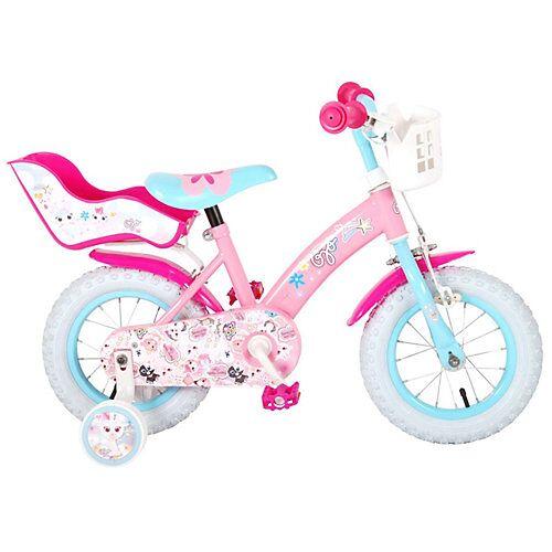 Volare Kinderfahrrad - Mädchen - 12 Zoll - Pink pink/blau