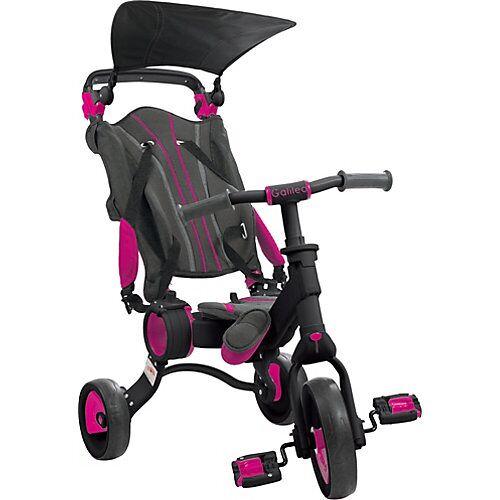 Dreirad faltbar schwarz-rosa