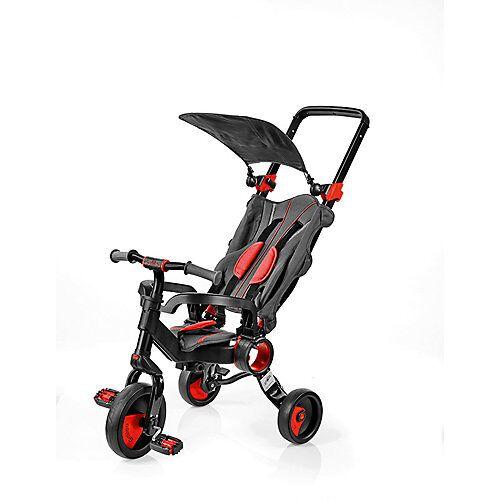 Dreirad faltbar schwarz-rot