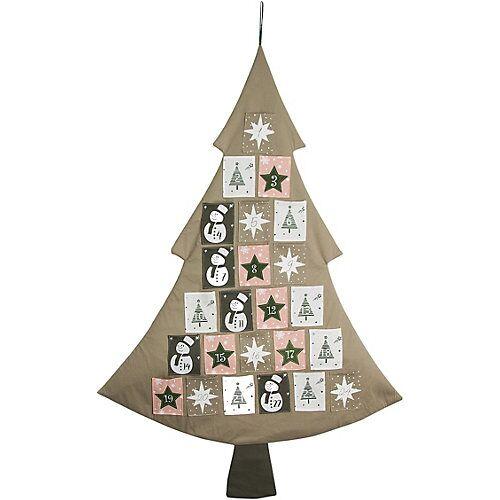 Hotex Adventskalender / Baum 79 x 117 cm, Säckchen 7,5 x 9,5 cm