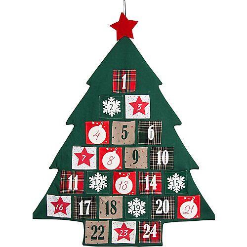 Hotex Adventskalender / Baum 72 x 89 cm, Säckchen 8,5 x 8 cm