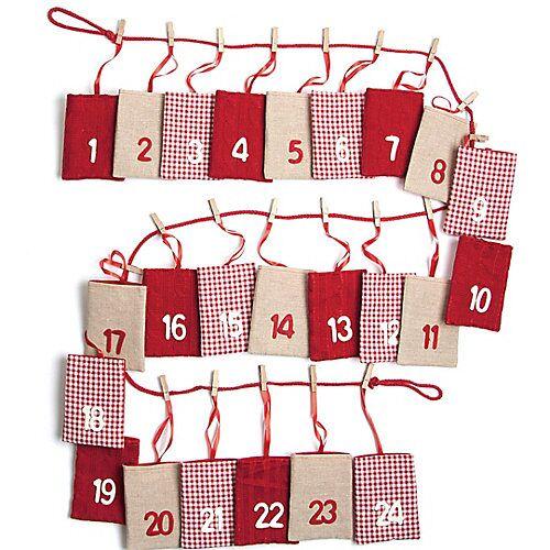 Hotex Adventskalender zum Befüllen, 23 x 200 cm rot