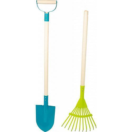 Small Foot Gartenwerkzeug-Set Duo blau/grün