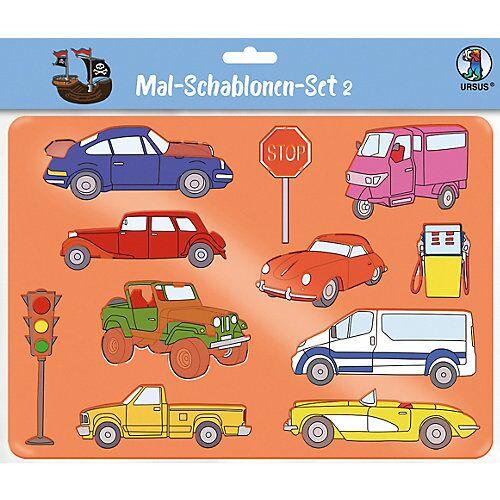 URSUS Mal-Schablonen-Set 2 grün-kombi