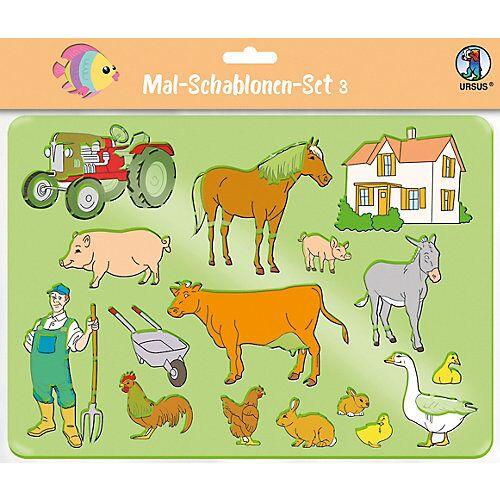URSUS Mal-Schablonen-Set 3 lila-kombi