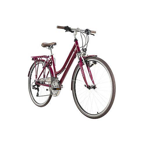 KS Cycling 28  Zoll Trekkingrad Damenfahrrad Vegas 21 Gänge Trekkingräder rot