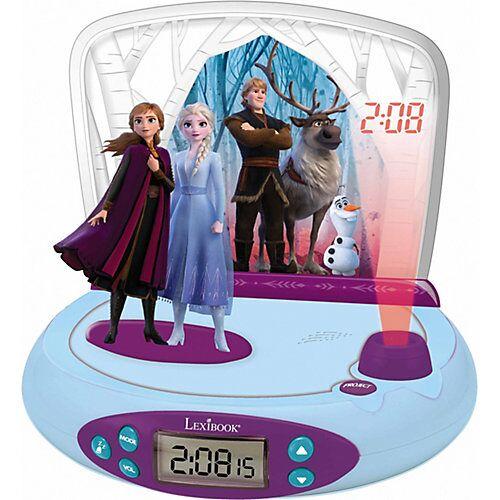 LEXIBOOK Disney Die Eiskönigin II - Wecker mit Projektor und Klingeltönen blau/lila