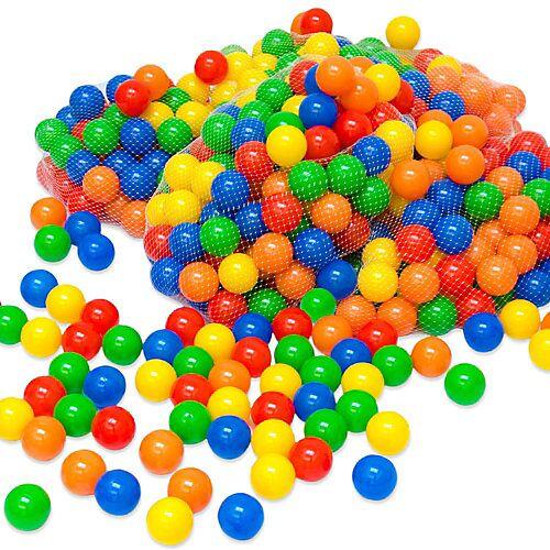 LittleTom 400 bunte Bälle Bällebad 5,5cm Bällebadbälle Spielbälle  Kinder