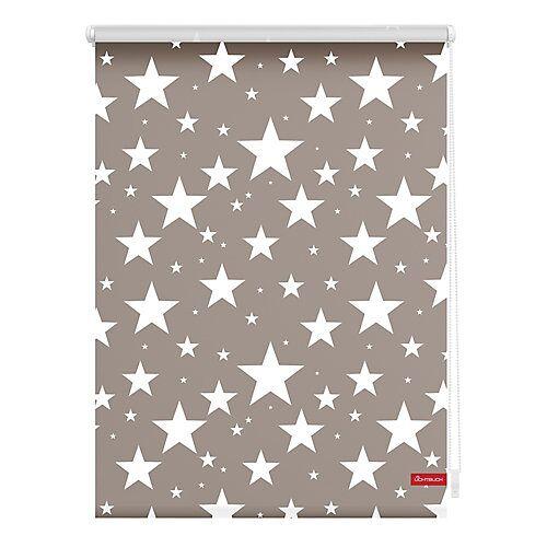 Lichtblick Rollo Klemmfix, ohne Bohren, blickdicht, Sterne beige