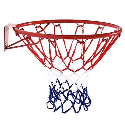 HOMCOM Basketballkorb mit Netz blau/rot