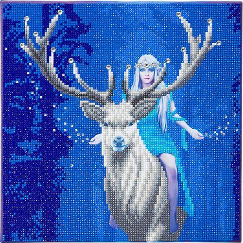 CRAFT Buddy Crystal Art Fantasiewald, 30 x 30 cm Kristallkunst-Kit ANNE STOKES