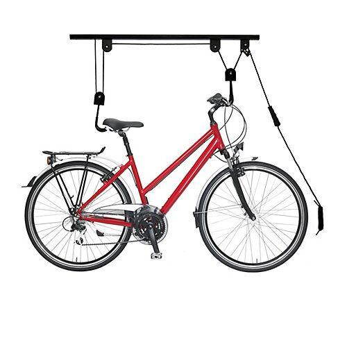 relaxdays Fahrradlift Decke schwarz