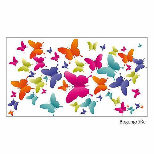 Wandtattoo 004 Wandtattoo bunte Schmetterlinge